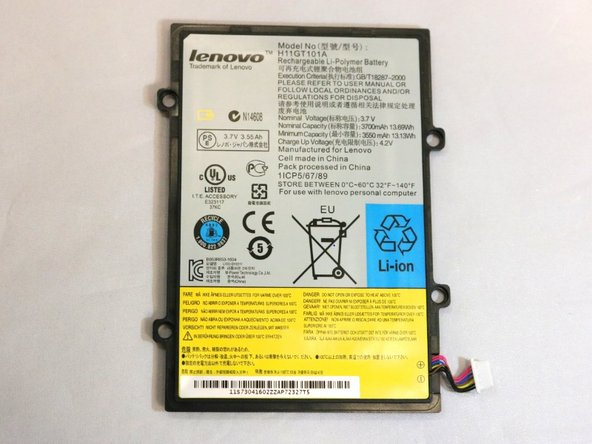 Lenovo IdeaPad A1-07 Battery Replacement