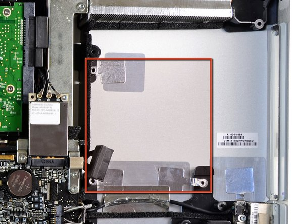In the next few steps, you'll install your new drive into the case of your EMC 2428 iMac.