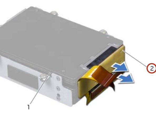 If applicable, replace the screws that secure the secondary hard drive (HDD 1) and  tertiary hard drive (HDD 2) to the hard-drive bracket.