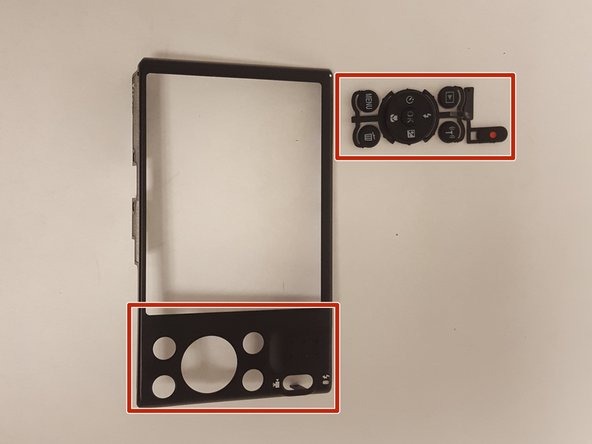 At this point push out any buttons that were jammed, and, clean the inside portion where the button sits inside the frames with isopropyl alcohol and a cotton swab as moisture may have found its way inside the camera causing stickiness.