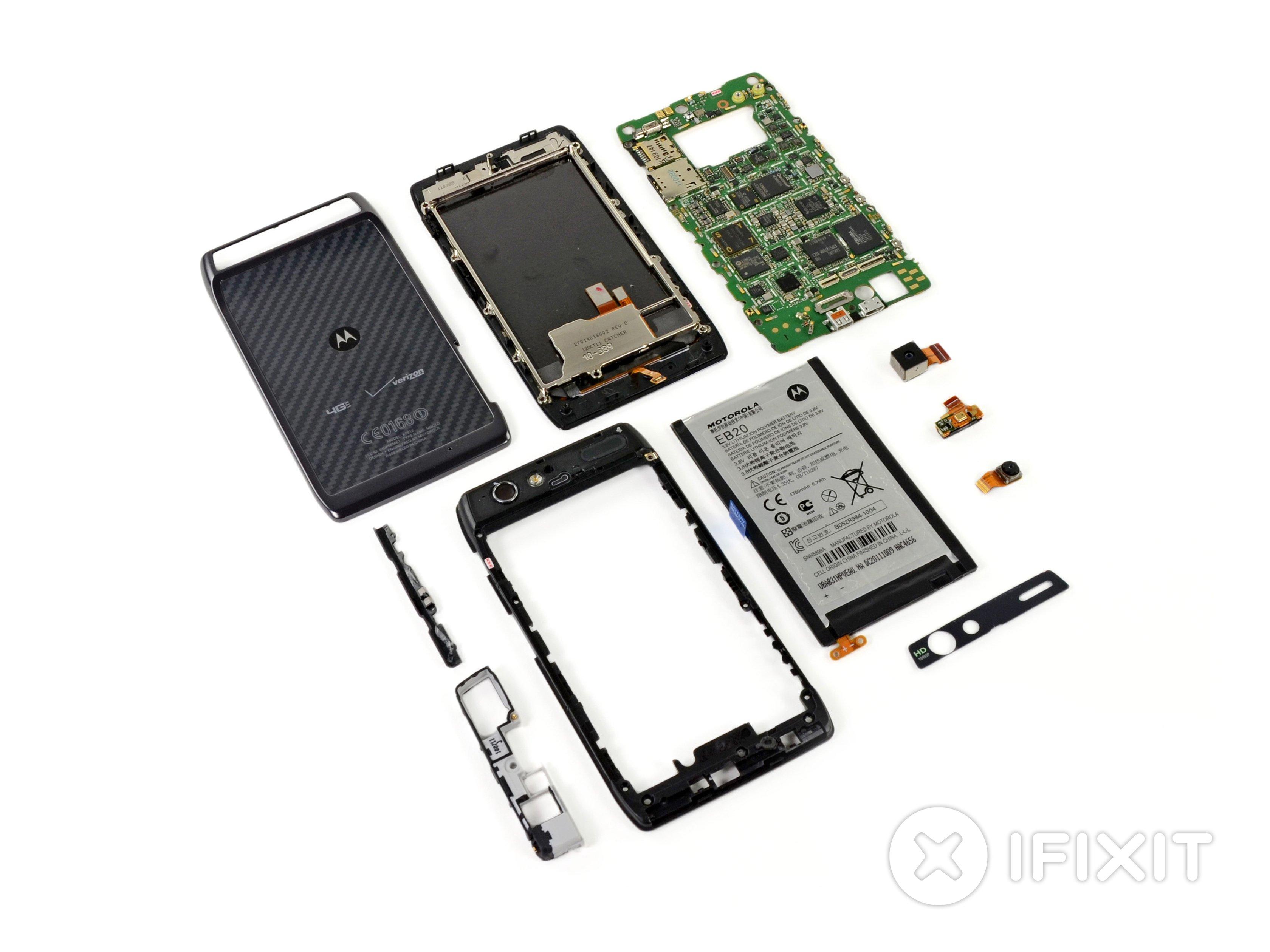 Motorola Droid Razr Teardown Ifixit