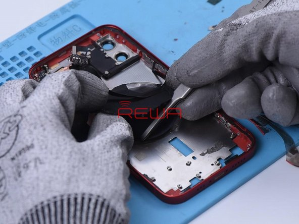 We should remove the wireless charging coil and then mark. The magnet array and shield can be easily removed after marking.