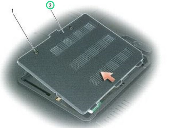 Replace the memory module/modem cover and tighten the captive screws.