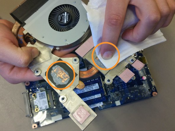 Image 2/2: Be careful not to mess up any of the pink thermal pads, these are important for other chips