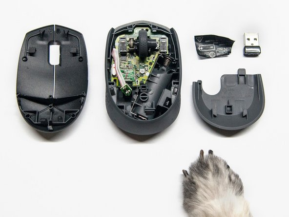 Opening the Logitech M170 Outer Casing