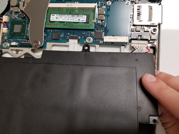 Remove the white plug connected to the battery by gently pulling it out of the socket.