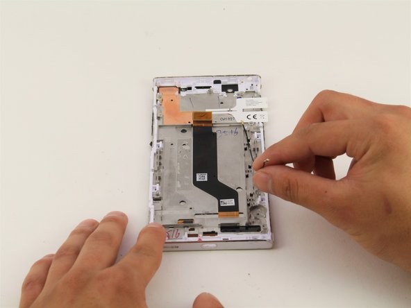 Remove the white wire from the device using your hands.