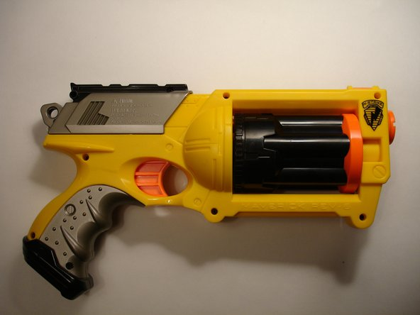 "Follow steps 1 through 4 of the ""Nerf N-Strike Maverick Teardown"" guide in reverse order to reassemble the gun."