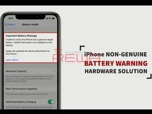 100% Fix Non-Genuine Battery Warning / Important Battery Message On iPhone XS And Above