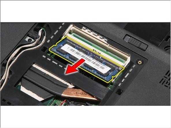 Remove the memory module from its connector on the system board.