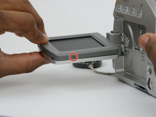 Turn the LCD monitor so that the screen is facing up.