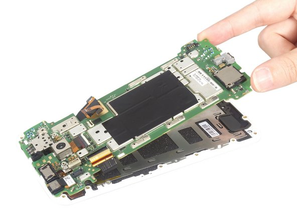 Pry up the motherboard and remove it carefully. At that time, we can separate the LCD screen from motherboard and get it alone.