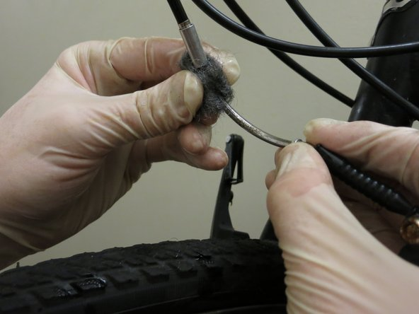 Vigorously rub the steel wool with lime juice on the rusty parts of the brakes