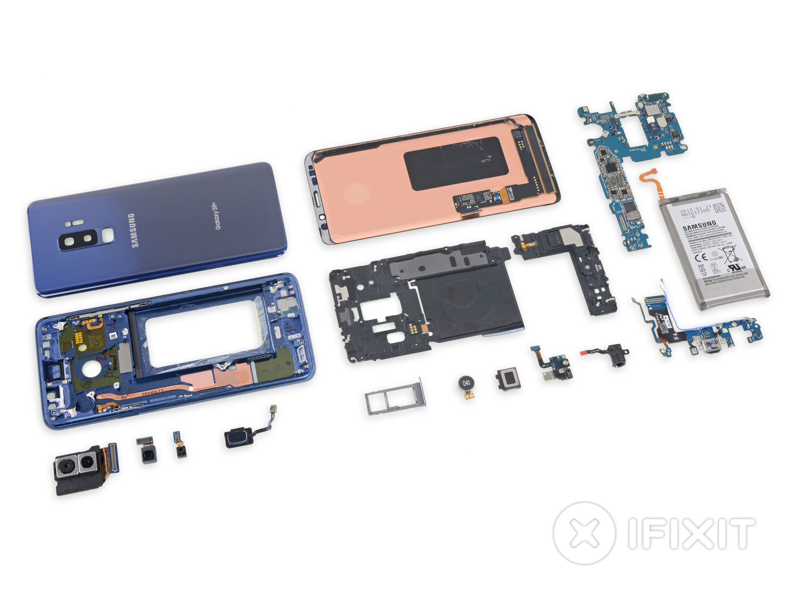 Samsung Galaxy S9 Teardown Ifixit Messages For Friends Images Diagram Of A Motherboard With Labels
