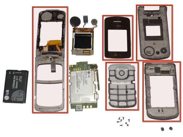 LG VX5500 Phone Casing Replacement