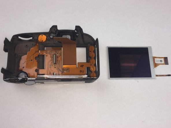 Remove old LCD screen from metal plate.