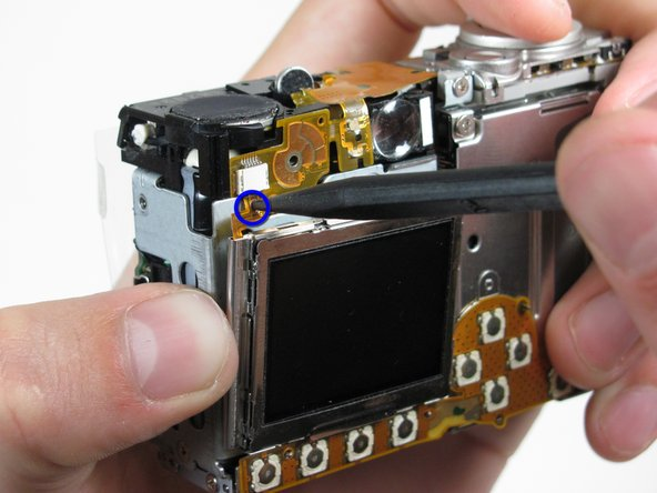Image 1/1: Be careful not pull the LCD too far because of the ribbon cable connection.