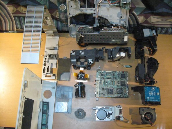 Then a look at all of the Components.  The Completed disassembly