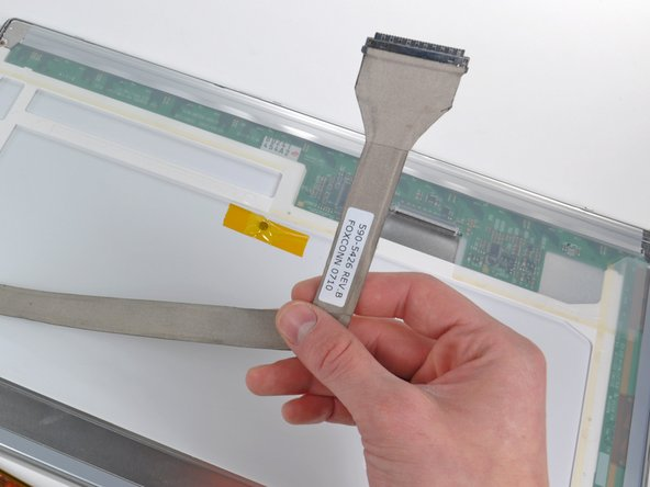 Remove the display data cable from the LCD assembly.