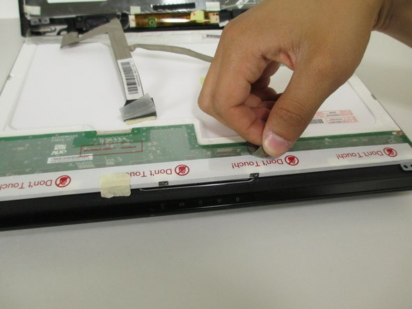 Image 1/2: Rest these wires on the back panel to prevent them from getting damaged.