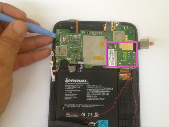 Image 1/3: Be careful, the mother board is sticked to the front outer case.