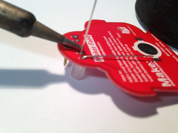 It does not mater which lead of the LED you begin soldering.