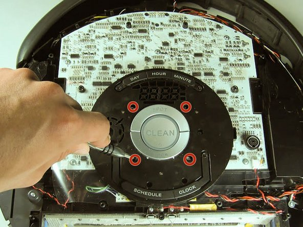 Use the Phillip's #1 Screwdriver to remove the four 7.5 mm screws that hold the control panel to the motherboard.