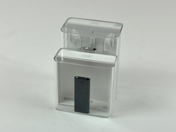 """Image 3/3: Contrary to Apple's typical claims of """"smaller packaging to save the environment,"""" this iPod's packaging is 65% larger than the original 3rd Gen shuffle."""