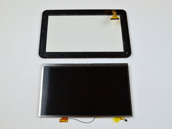 Completely remove the display screen from the touchscreen.