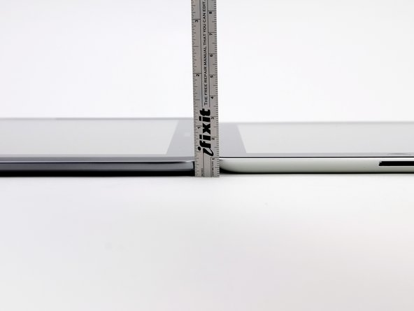 Size comparison between iPad and Samsung Galaxy Note 10.1