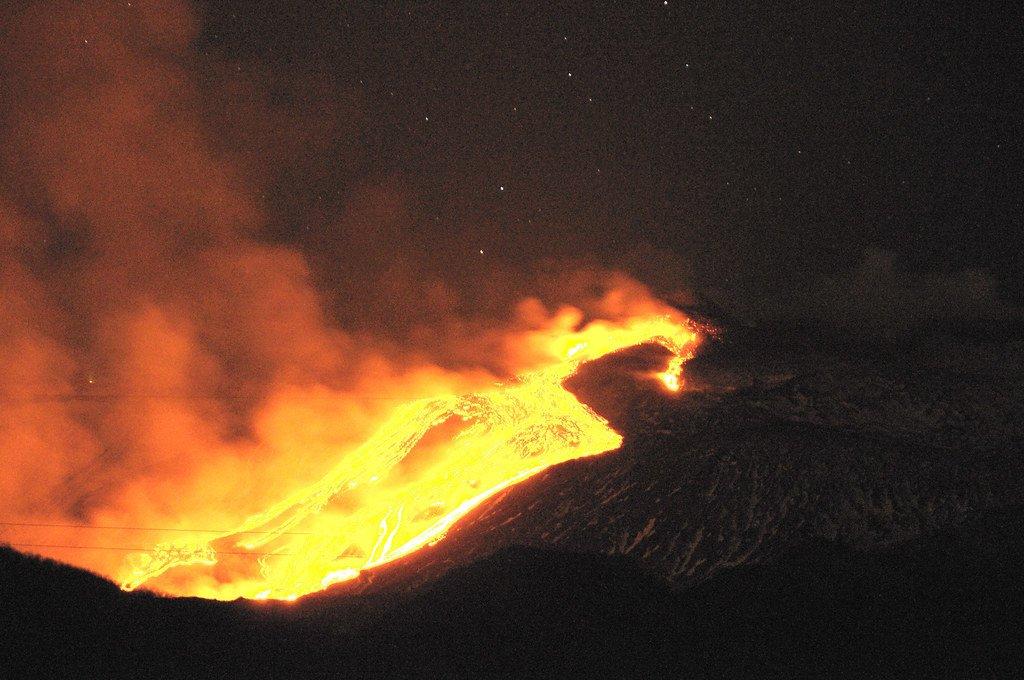 The volcano Etna, inspiration for the volcano planet Mustafar