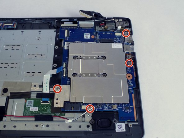 Remove the four 4-mm screws holding the metallic plate using a PH0 screwdriver.