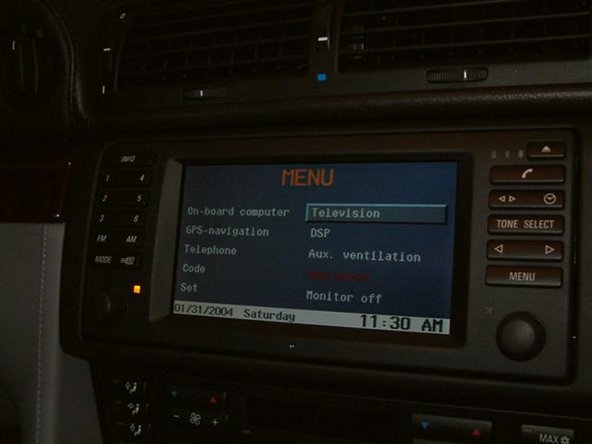 Once Complete Television will be displayed on navigation screen