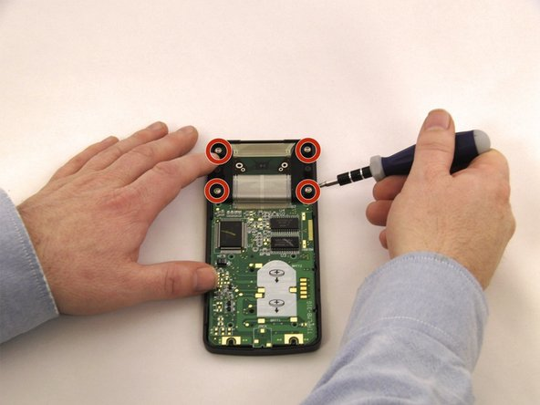 Use the PH0 screwdriver to remove the four screws from the screen mount.