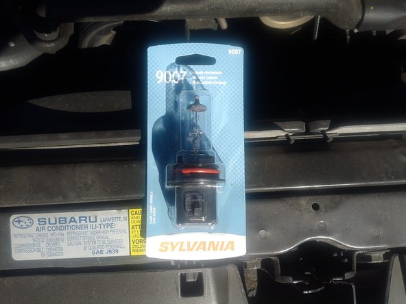 Before you begin, make sure you have the right bulb.  I got this at the local autozone.