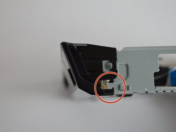 Lightly lift off the hook on both front rear side  and the bottom of the  device to remove the front panel