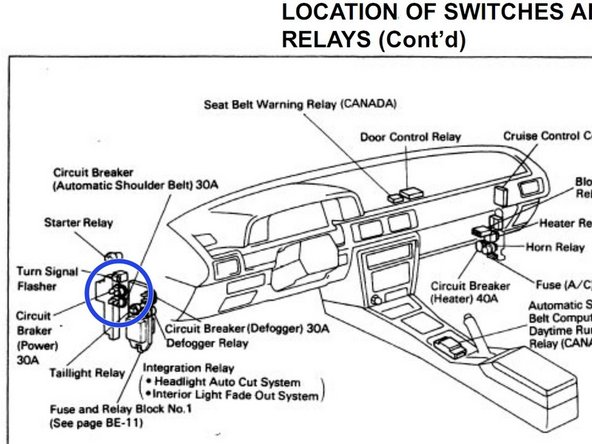 1992 toyota celica fuse box diagram 2001 toyota avalon
