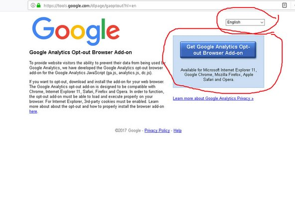 Install the browser add-on to opt-out Google tracking ! Step #2