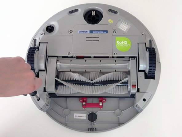 Remove the screws on both sides of bObi Pet's dustbin. Then, remove the corner pieces that were held down by the screws.