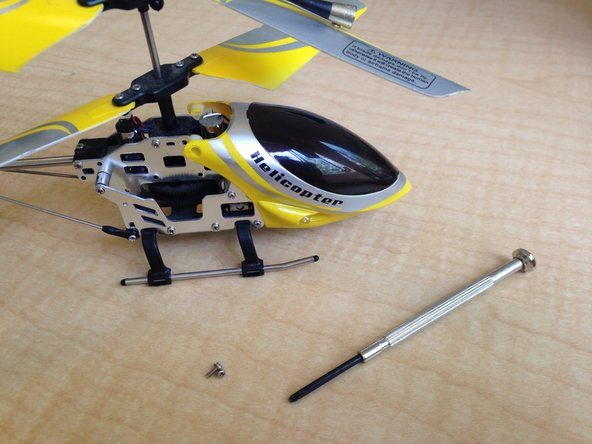 Image 1/1: The screws may not be the same sizes on your RC Heli.