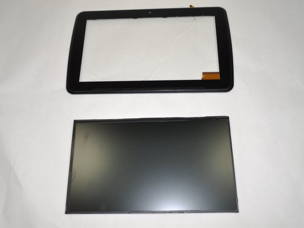 Gently separate the LCD panel from the digitizer.