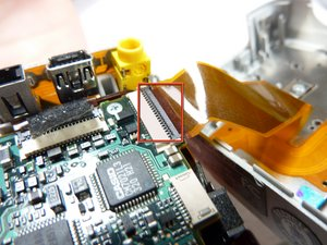 Sony Cyber-shot DSC-P52 Removing Ribbon Cables
