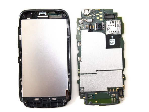 Image 2/2: You should now have separated the motherboard from the LCD/Digitizer Assembly
