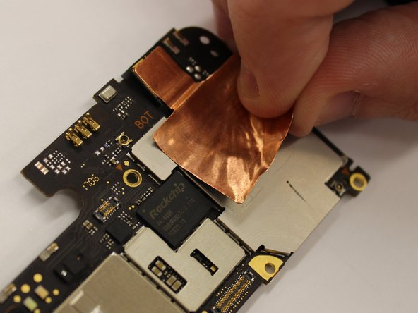 Peel the copper adhesive off.
