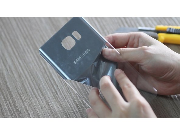 How to DIY clear Samsung Galaxy Note5 back cover