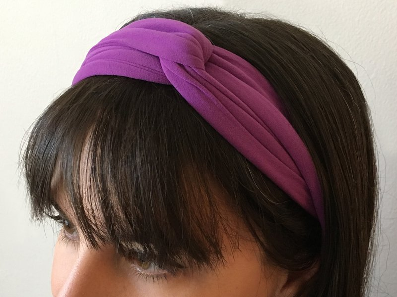 tights into a headband