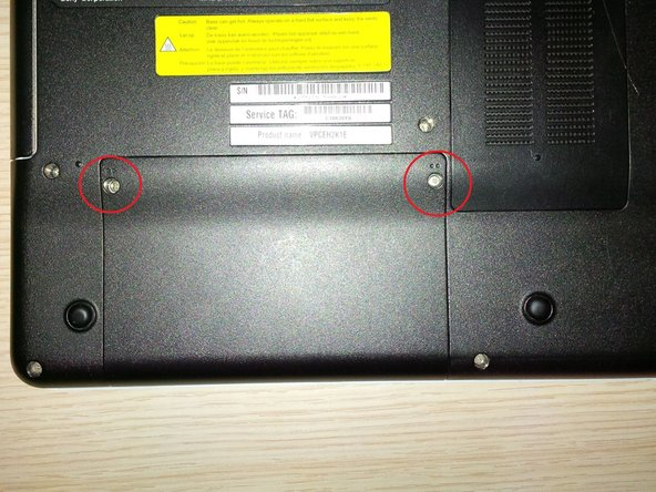 remove the 2 screws of the HDD  compartment