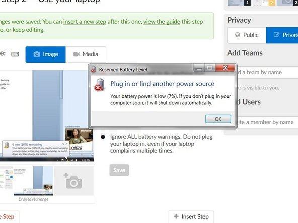 Recalibrating laptop batteries - iFixit Repair Guide