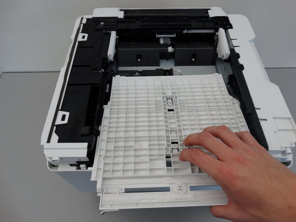 Pull out the white manual feed tray.