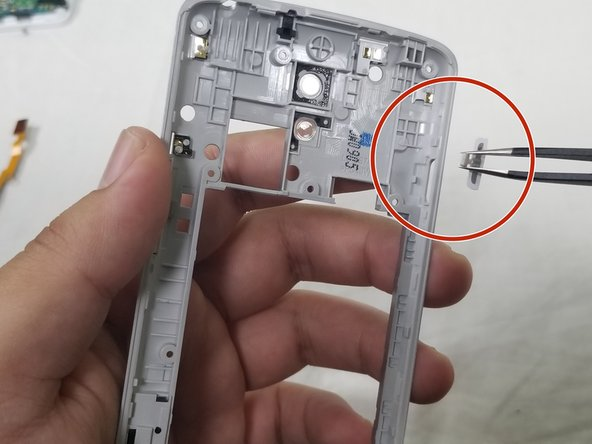 Then push the power button through the cutout to remove completely.